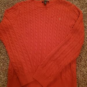 Ralph Lauren sweater orange large nwot